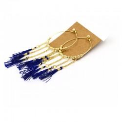 Boucle d'oreille goutte bleu bijoux Candy