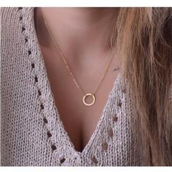 Collier anneau doré