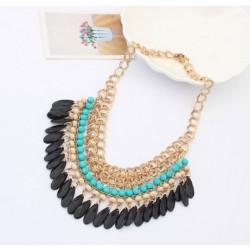Collier bijoux strass ras de cou Egyptien