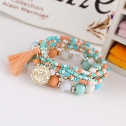 Bijoux bracelet monté sur perle multicolore
