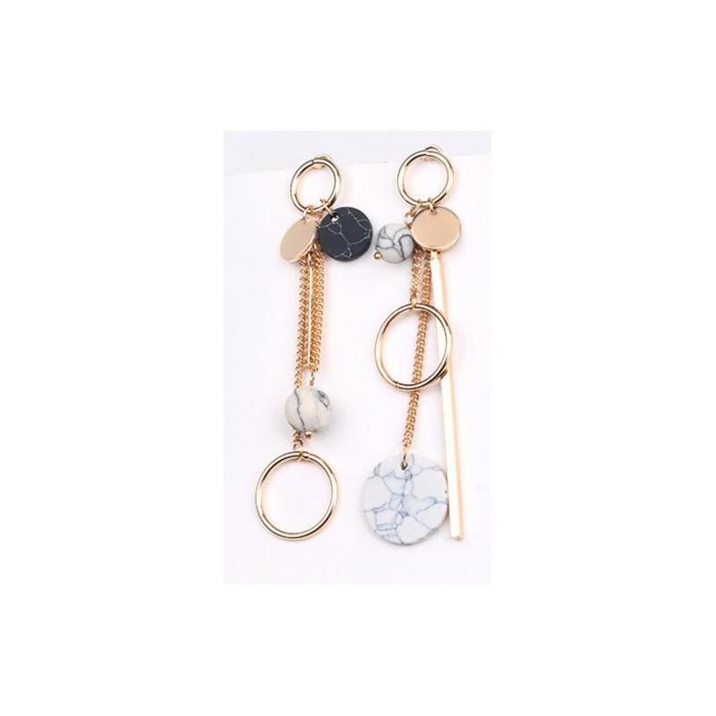 Boucle d'oreille pendentif anneau Candy Bijoux