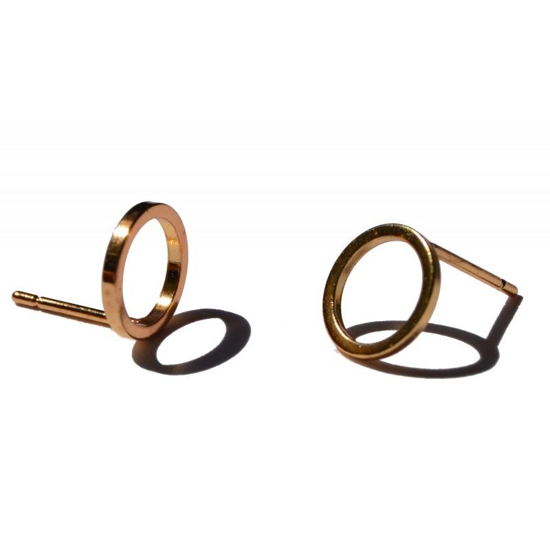 Boucle d'oreille clou anneau or Candy Bijoux