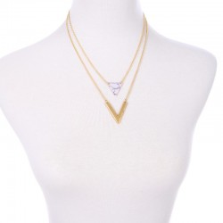 Collier pendentif triangle Candy Bijoux