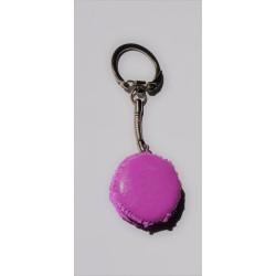 Porte clé Fimo macaron prune