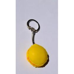 Porte clé Fimo macaron Citron Orange Candy bijoux