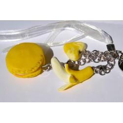 Porte clé Fimo bonbon  acidulé jaune Candy Bijoux