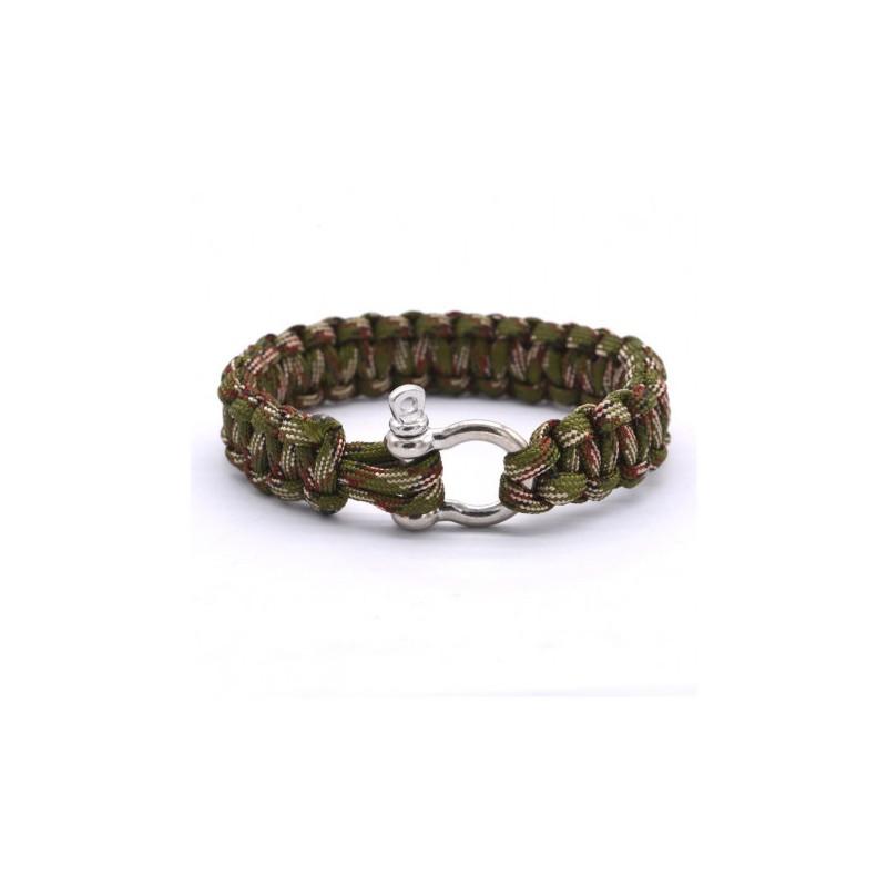 Bracelet homme tressage vert
