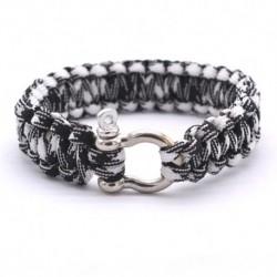 bracelet-homme-tressage-noir-blanc