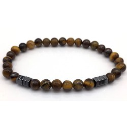Bracelet perles marron