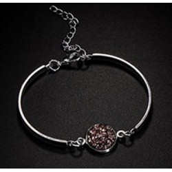 Bracelet femme pierre druzy sur fermoir