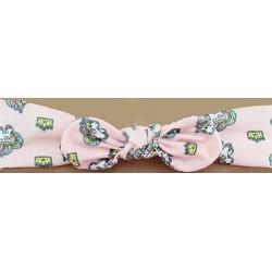 Bandeau avec nœud imprimé licorne candy bijoux