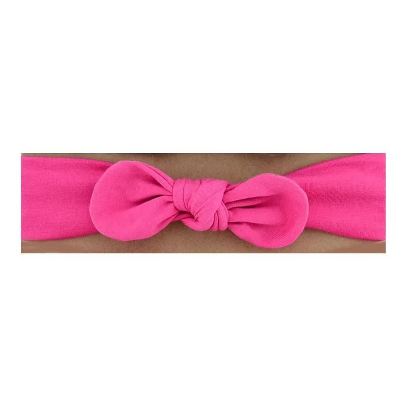 Bandeau pour bébé couleur rose Fushia nœud.