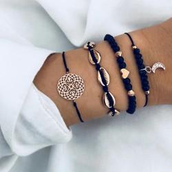 Bracelet bleu marine Lot de 4 pièces