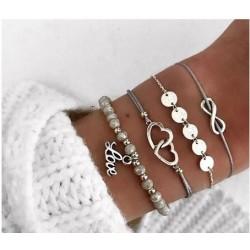 Bracelet Lot de 4 pièces...