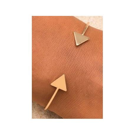 Bracelet triangle flèches sur poignée couleur or